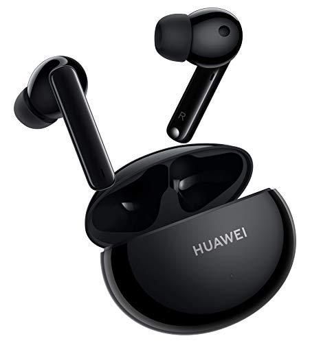 HUAWEI FreeBuds 4i Kabellose In-Ear-Bluetooth-Kopfhörer mit aktiver Geräuschunterdrückung, schnellem Aufladen, langer Akkulaufzeit, Carbon Black, Garantieverlängerung auf 30 Monate