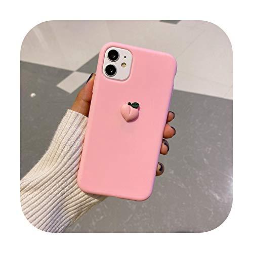 3D Avocado Fruits Silicone Case For Huawei Y8P Y7P Y6P Y5P Y9S Soft TPU Phone Cases For Huawei Y5 Y6 Y7 Y9 Prime 2019 Cover Etui-XLB5-Dark Pink-for Huawei Y7 2019