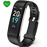Akasma Fitness Tracker HR, S5 Activity Tracker Watch with Heart Rate Monitor, Pedometer IP68...