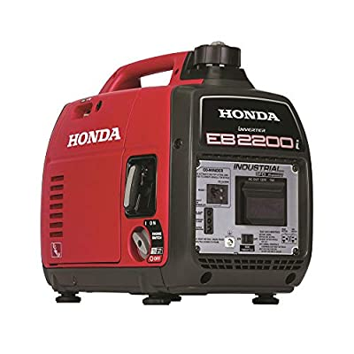 Honda 663530 EU2200i 120V 2200-Watt 0.95 Gallon Companion Portable Inverter Generator with Co-Minder