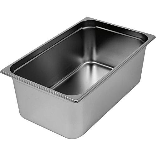 RIEBER GN-Behälter1/2 18/10 Edelstahl, Tiefe: 100 mm, Inhalt: 5,30 Liter