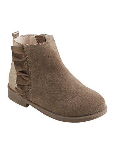 VERTBAUDET Mädchen Stiefel aus Leder, Beige - Taupe - Größe: 35 EU