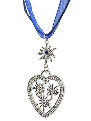Halsketting met hanger in de vorm van een hart, elegant hartje, voor dirndl en lederhose