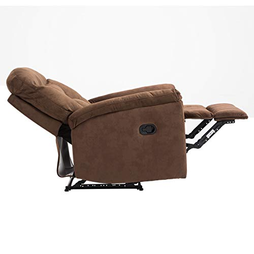 zsjhtc Electric Power Recliner Chair,Soft Thickening Velvet Living Room Theater Recliner Sofa with Armrest Backrest Home Theater Seating Brown