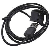 Be In Your Mind Data Clip USB Carga Base Cargador Compatible con Garmin Vivosmart HR/HR+ Cable de carga USB 100 cm