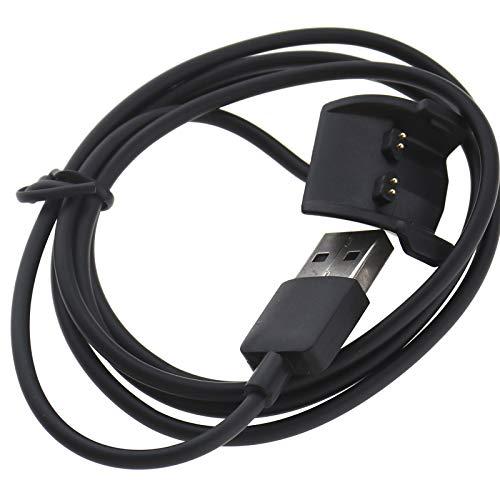 Be In Your Mind Dataklämma USB-laddningsdocka vagga basladdare kompatibel med Garmin Vivosmart HR/HR+ USB-laddningskabel 100 cm