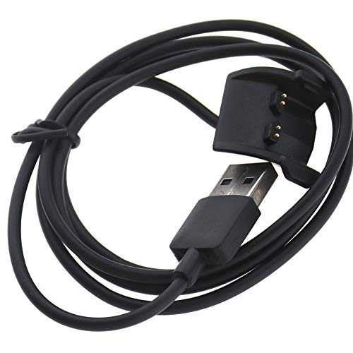 Be In Your Mind Data Clip USB Carga Base Cargador Compatible con Garmin Vivosmart HR/HR+ Cable de carga USB 100 cm