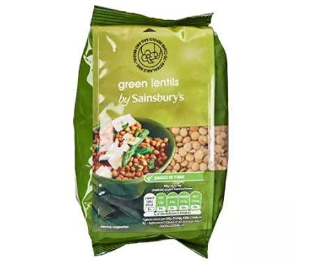 Sainsbury's Lentejas verdes secas 500g - Las lentejas se utilizan en sopas, guisos, ensaladas, guisos, bocadillos y platos vegetarianos.