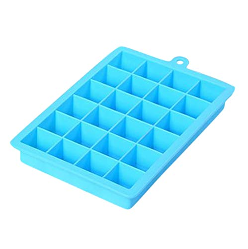 MULIN 2 Set Soft Bottom with Lid Ice Tray Mold, Suitable for Spring and Summer, Quick Freezing, Easy to Clean, Non-Toxic, Durable, Easily to Pull Out Freezer Molds Blue