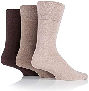 12 Pairs Multipack Mens Big Foot Cotton Rich Gentle Grip Diabetic Socks Large size UK 12-14
