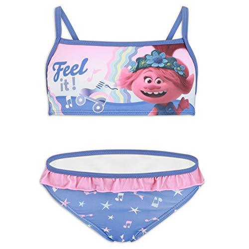 DreamWorks Trolls 2  Nia  Baador Bikini 2 piezas 1 playa piscina  Producto original con licencia oficial 1915 Blu 6 aos
