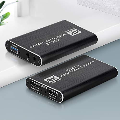 Scheda di acquisizione video 4K USB3.0 Ippinkan Scheda video HDMI USB Supporto 4k60hz EDID Microphone 3,5mm Audio per live streaming Youtube OBS ecc