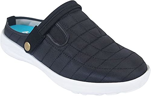 SPLASH メンズ サンダル サボ スリッポン スリッパ ナースシューズ 介護士 ヘルパー 軽量 軽い メッシュ 運動靴 ブラック 黒 つっかけ 作業靴 男性 父の日 hr70557(ブラック LL(26.5〜27.0cm))