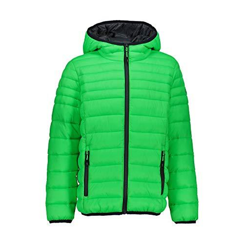 CMP Jungen Jacke Steppjacke Mit Feel Warm Flock Wattierung, Verde Fluo, 116, 30Z1784B