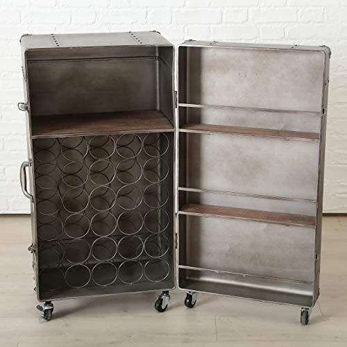 Estilo retro, armarios decorativos con la maleta de basura con botellero/enfriador de vino,Bronze