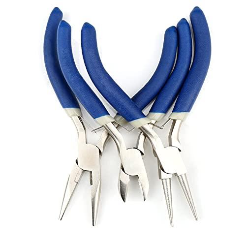 Alicates para joyería de 3 piezas Mini alicates Alicates de punta de aguja Alicates de punta redonda Alicates de corte de alambre