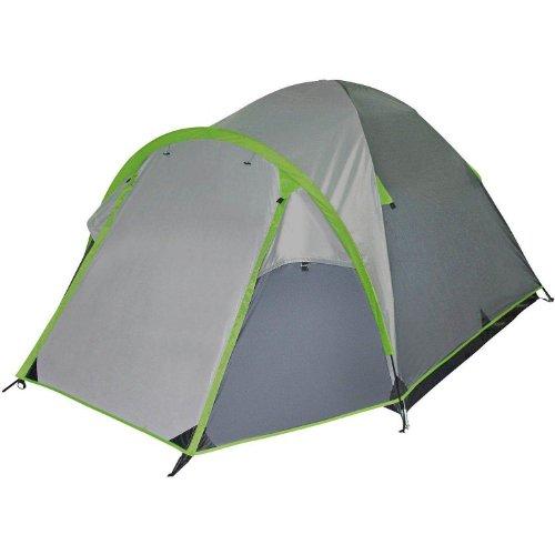 McKinley Campingzelt Discovery 3 (3-Mann Zelt) (Farbe: Dunkelgrau/Grau/Grün)