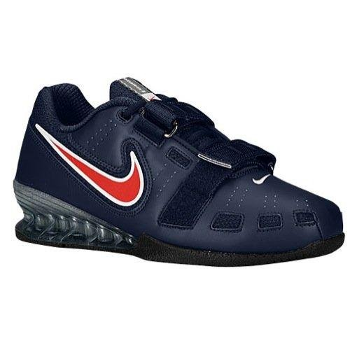 Nike Romaleos II Weighlifting Shoes - Obsidian/Sport Red/White (10.5)