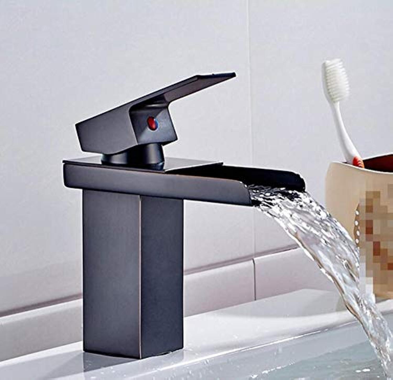 Moderner Wasserfall Kupfer Heie Und Kalte Spülbecken Wasserhhne Wasserhahn Mit Wasserhahn Aus Schwarz - Schwarzer Bronze