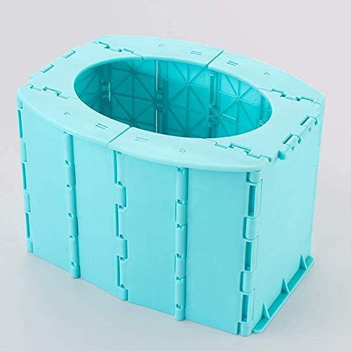 HLJ Toilettes for Enfants, Go Out Pliant Toilettes, Portable Voiture Urinoir, Stable sans retournement, sûre et respectueuse de l'environnement Bleu (Color : Blue)