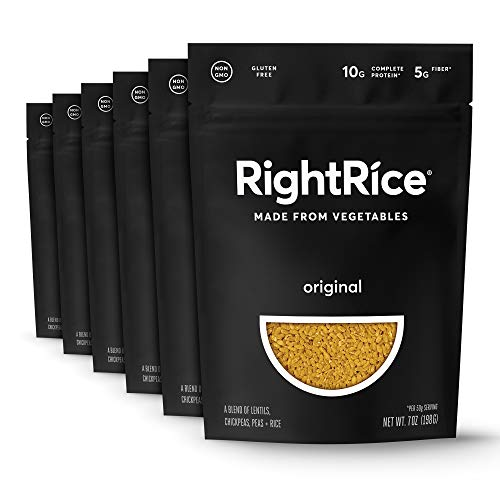 RightRice - Original (7oz. Pack of 6) - Made from Vegetables - High Protein, Vegan, non GMO, Gluten Free