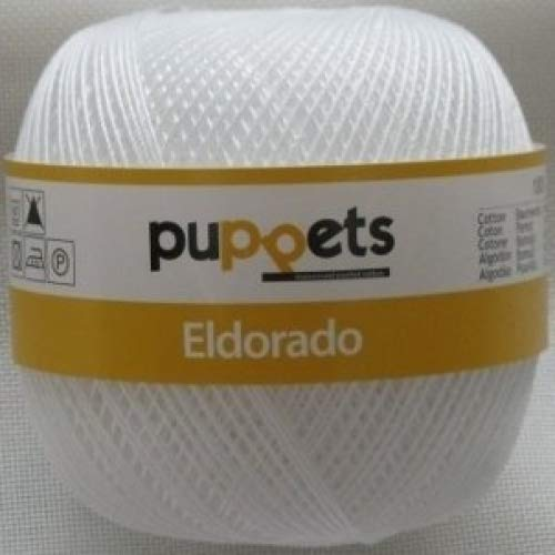50g Puppets eldorado - Farbe: 7001 - weiß - Häkelgarn Stärke 10