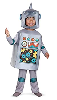 Disguise Costumes Artsy Heartsy Retro Robot Costume Silver/Red/Blue/Yellow Large