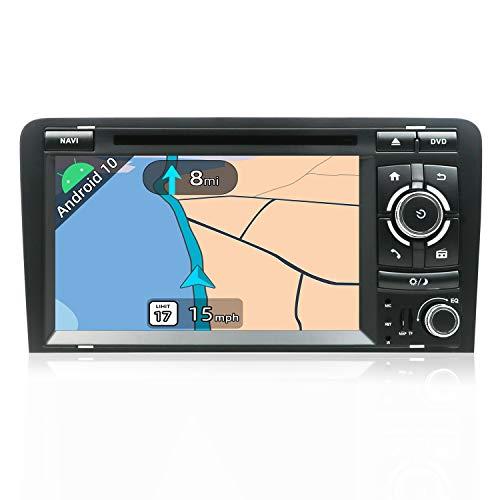 JOYX Android 10.0 Autoradio Estéreo Navegación GPS Compatible Para Audi A3 2003-2011 | Gratis Cámara Canbus | 2 Din 7 pulgada 2GB/32GB |SD |USB |DAB+ Soporte |3G/4G |WLAN |Bluetooth|MirrorLink|Volante