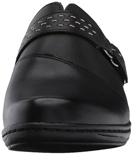 Clarks Women's Leisa Sadie Mule, Black Leather, 10 M US