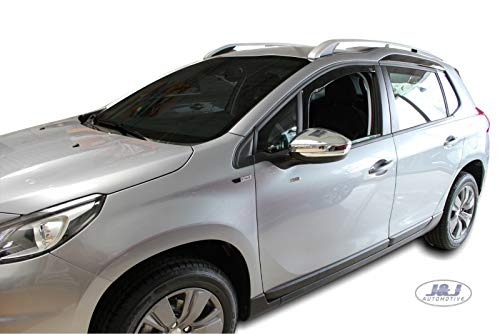 J&J AUTOMOTIVE DEFLETTORI ARIA ANTITURBO Peugeot 2008 5 porte 2013-ad oggi 2pezzi