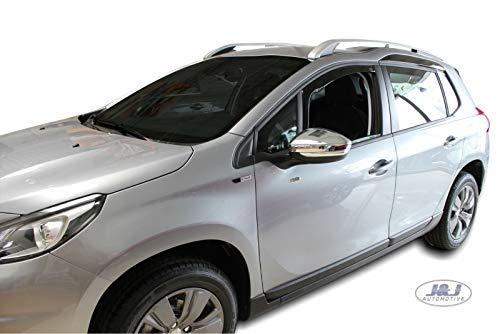 J&J AUTOMOTIVE Windabweiser Regenabweiser für Peugeot 2008 5-türer ab 2013 2tlg HEKO dunkel