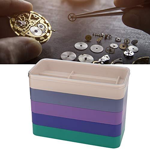 Watch Parts Box, 5-laags horlogeonderdelen bewaarbox horloge tools voor hardware onderdelen voor het verplaatsen van schroefcomponenten Rectangle
