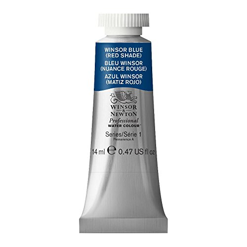 Winsor y Newton - Acuarela Profesional, azul Winsor (matiz roja), tubo 14 ml