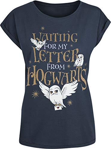 Harry Potter Hogwarts Letter Frauen T-Shirt dunkelblau S