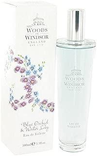 Blue Orchid & Water Lily by Woods of Windsor Eau De Toilette Spray 3.3 oz