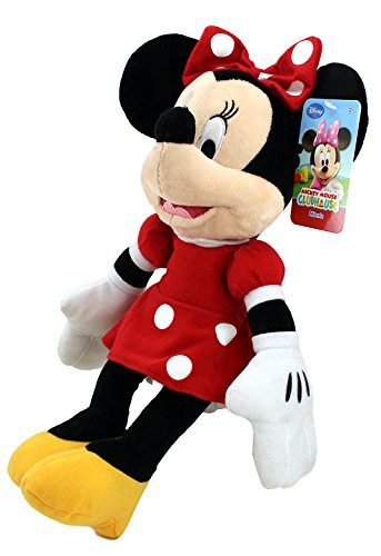 Disney Plush Classic Minnie Mouse Red Polka Dot Dress 15' Toy Doll