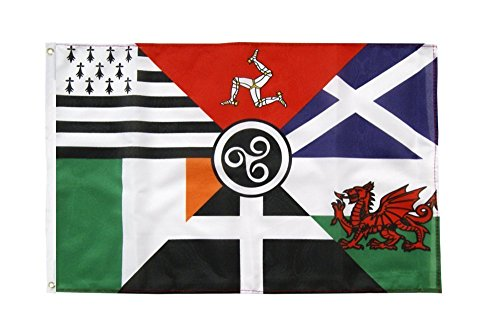 SIX CELTIC NATIONS 5ftx 3ft FLAG