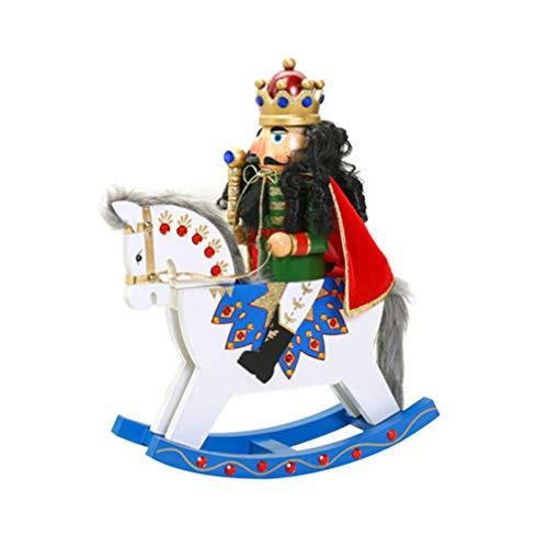 IMIKEYA Schiaccianoci in Legno soldatini Trojan a Dondolo Cavallo Creativo schiaccianoci Ornamento Decorazioni Artigianali in Legno per la casa