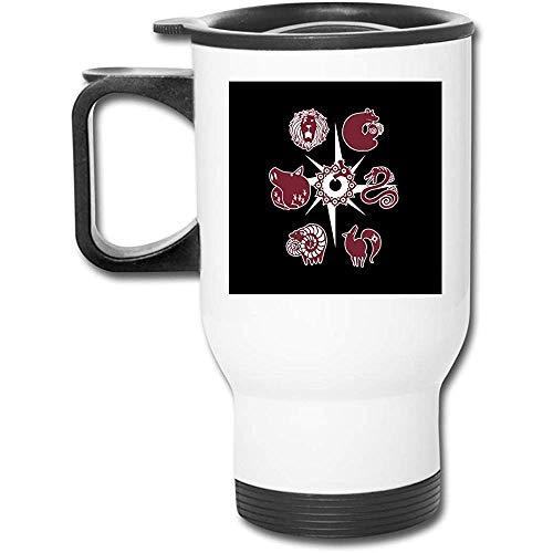 Siete pecados capitales tatuajes Vaso de acero inoxidable de 16 oz Taza de café...