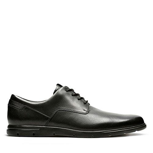 Clarks Men's Vennor Walk Derby, Schwarz (Black Leather), 43 EU