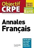Annales Français - Admissibilité écrit