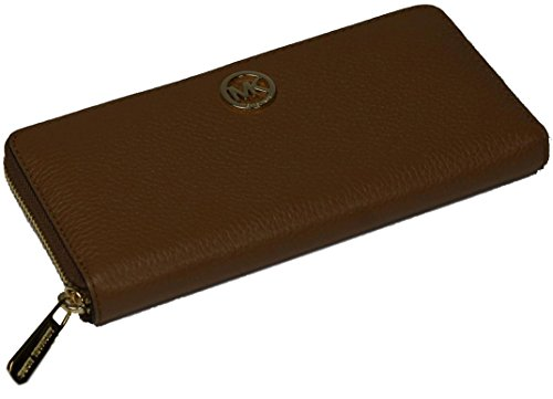 Michael Kors Damen Brieftasche - Geldbörse - Braun mit kleinem goldenen Logo