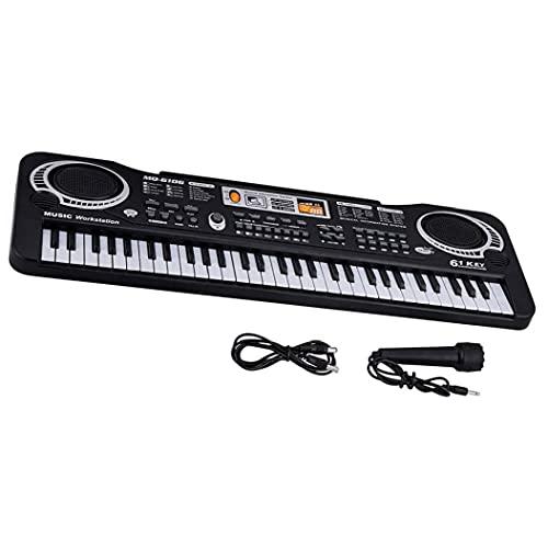 Liadance Niños del Teclado De Piano Eléctrico 61 Teclas con Micrófono para Instrumentos De Regalos De Juguetes Educativos para Niños