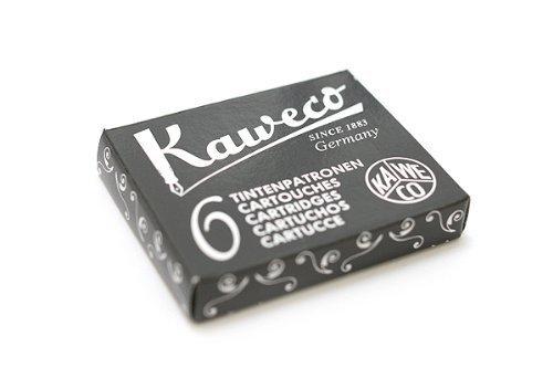 Kaweco - Cartucho de tinta para pluma estilográfica (6 unidades), color negro