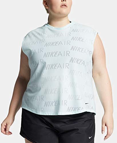 Nike Womens Plus Size Air Logo-Print T-Shirt, Light Pastel Blue, 1X