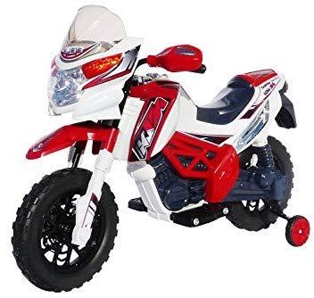 Kinder Elektromotorrad J518 Kinderfahrzeug Elektro Motorrad Spielzeug für Kinder (Rot)