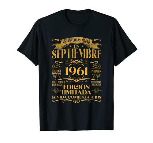 Las Leyendas nacen en Septiembre de 1961 60 años Cumpleaños Camiseta