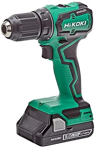 HIKOKI DS18DDWQZ Taladro atornillador inalámbrico, Verde y negro