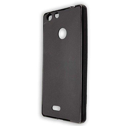 Coque pour Archos 55 Diamond Selfie/Selfie Lite, TPU-Housse Étui de Protection Antichoc pour Smartphone (Coque de Coloris Noir)