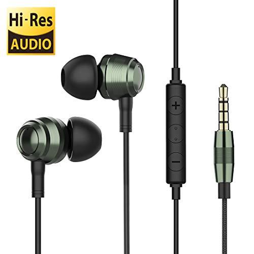 In-Ear hoofdtelefoon Bass Stereo HiFi ruisonderdrukking Langsdom, Dual Dynamic Driver hoofdtelefoon Balanced armatuur met microfoon en afstandsbediening Compatibel met iOS en Android (3,5 mm stekker)
